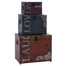 3 Piece Metal Trunk Set by Cole & Grey