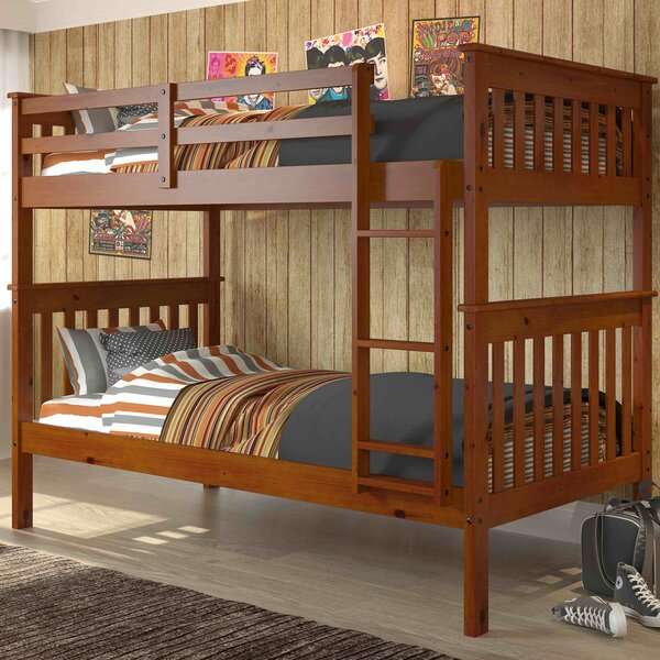 donco kids donco twin bunk bed reviews wayfair - Bunk Bed Frames