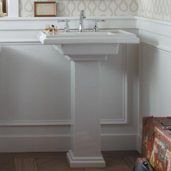 Kohler Tresham 30 Pedestal Bathroom Sink With Overflow Reviews Wayfair