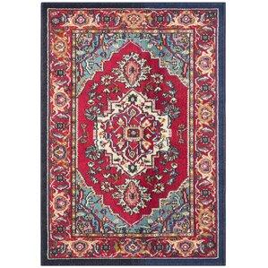 chana red area rug