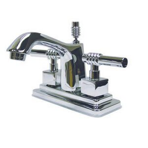 Milano Double Handle Centerset Bathroom Sink Faucet with Brass Pop-up Kingston Brass