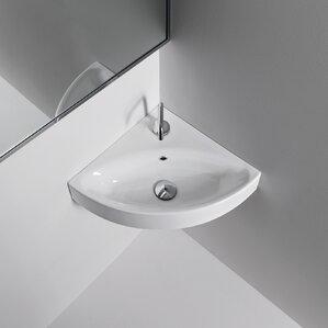 Cento Ceramic 17 7 Corner Bathroom Sink