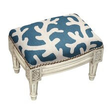 Upholstered Footstool by 123 Creations