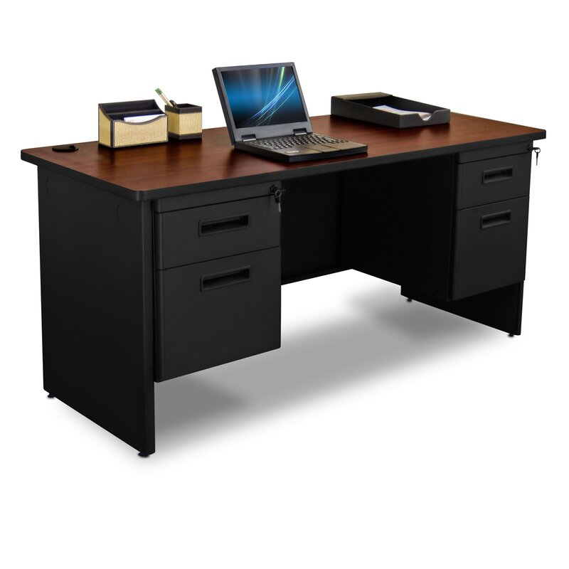 Marvel Office Furniture Pronto Double Pedestal Computer Desk Wayfair