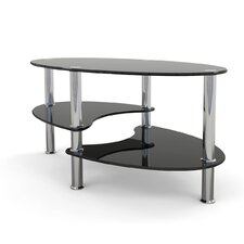 Odette 38 Oval Two Tier Glass Coffee Table by Ebern Designs