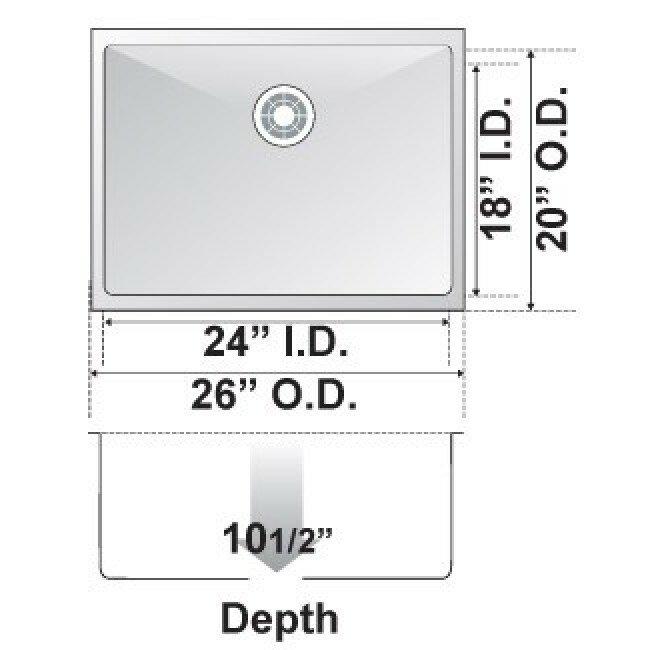 26 X 20 Single Bowl Undermount Kitchen Sink