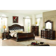 Waynesburg Sleigh Customizable Bedroom Set by Alcott Hill