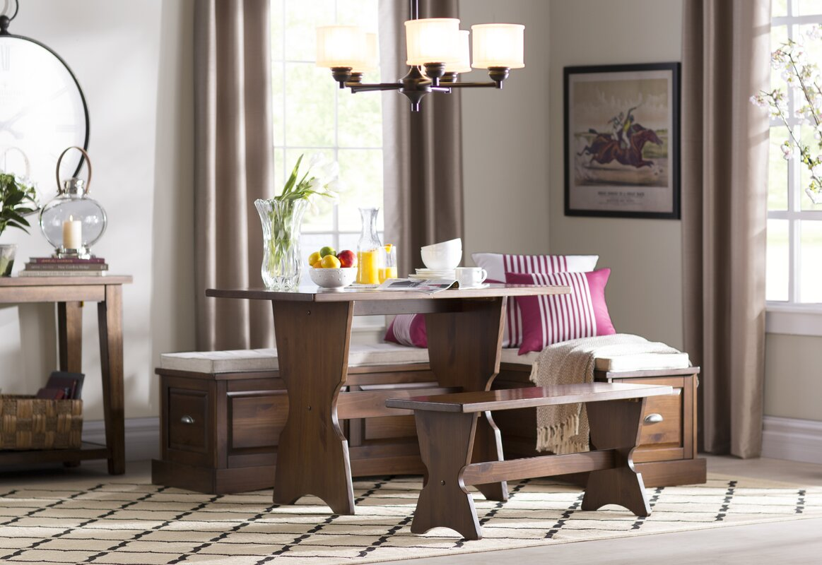 Exceptional Haverhill 3 Piece Nook Dining Set $527.99