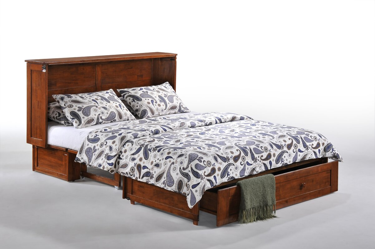 Bed frame with storage - Queen Storage Cabinet Murphy Bed