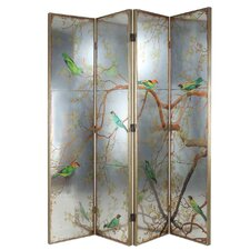 Fallsview 18 x 78 Exotic Melodies 4 Panel Room Divider by World Menagerie