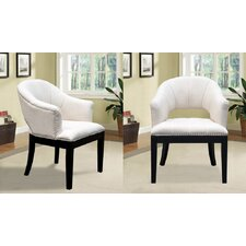 Living Room Barrel Chair (Set of 2) by BestMasterFurniture