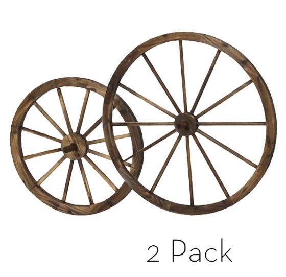 Wagon Wheel Wall Decor piersurplus 2 piece wagon wheels wall décor set & reviews | wayfair
