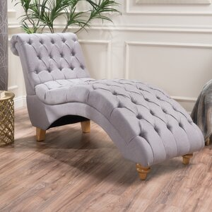 Almonburry Fabric Chaise Lounge by Bungalow Rose