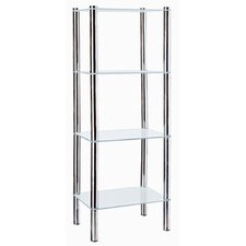 4 Tier 15.5 W x 42.25 H Bathroom Shelf by Home Basics