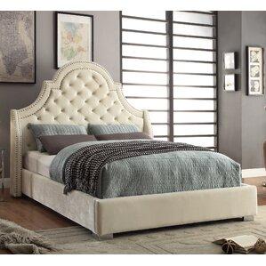 grove upholstered platform bed - Velvet Bed Frame
