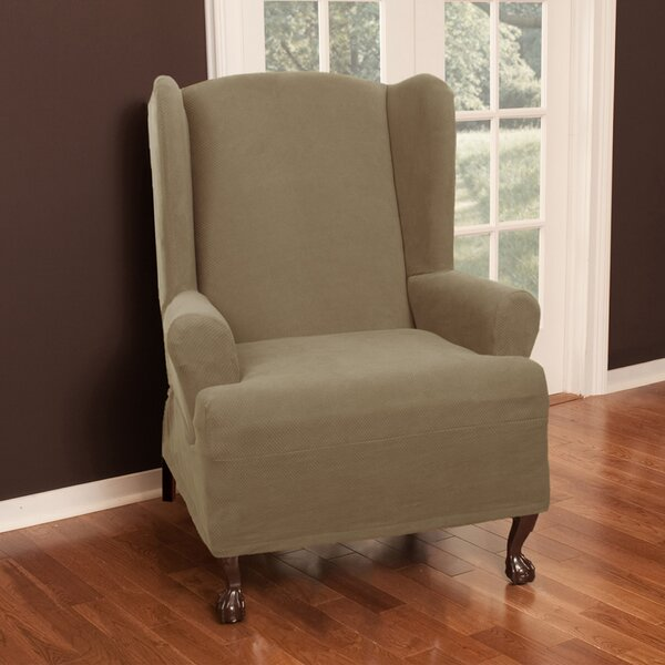 Darby Home Co Wing Chair T Cushion Slipcover U0026 Reviews | Wayfair