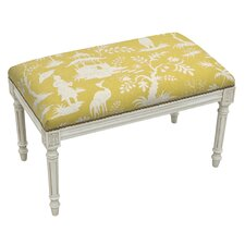 Floral Upholstered and Wood Bench by 123 Creations