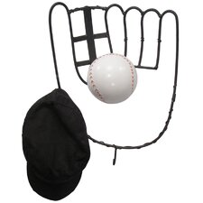 Hall of Fame Baseball Glove Coat Rack with Ball by Metrotex Designs