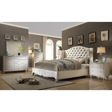 City Life Queen Wingback 4 Piece Bedroom Set by Ultimate Accents