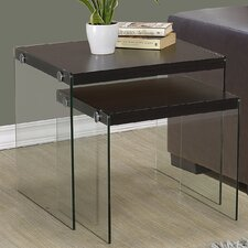 Two Piece Nesting Table Set by Monarch Specialties Inc.