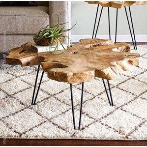 tree stump coffee table | wayfair