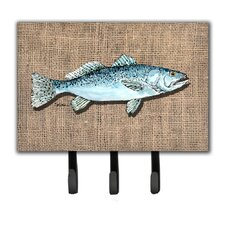 Fish Speckled Trout Leash Holder and Key Holder by Caroline's Treasures