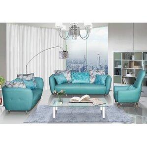 Blue Living Room Sets You ll Love   Wayfair 3 Piece Leather Living Room Set. Blue Furniture Living Room. Home Design Ideas
