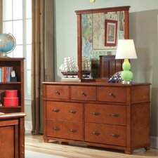 David 7-Drawer Wood Double Dresser with Mirror by Viv + Rae