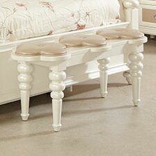 Paris Bedside Upholstered Bedroom Bench by Najarian Furniture