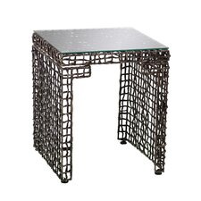 Akersville Woven End Table by World Menagerie