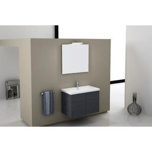 Trendy 32 Single Wall Mount Bathroom Vanity Set with Mirror Iotti Nameeks