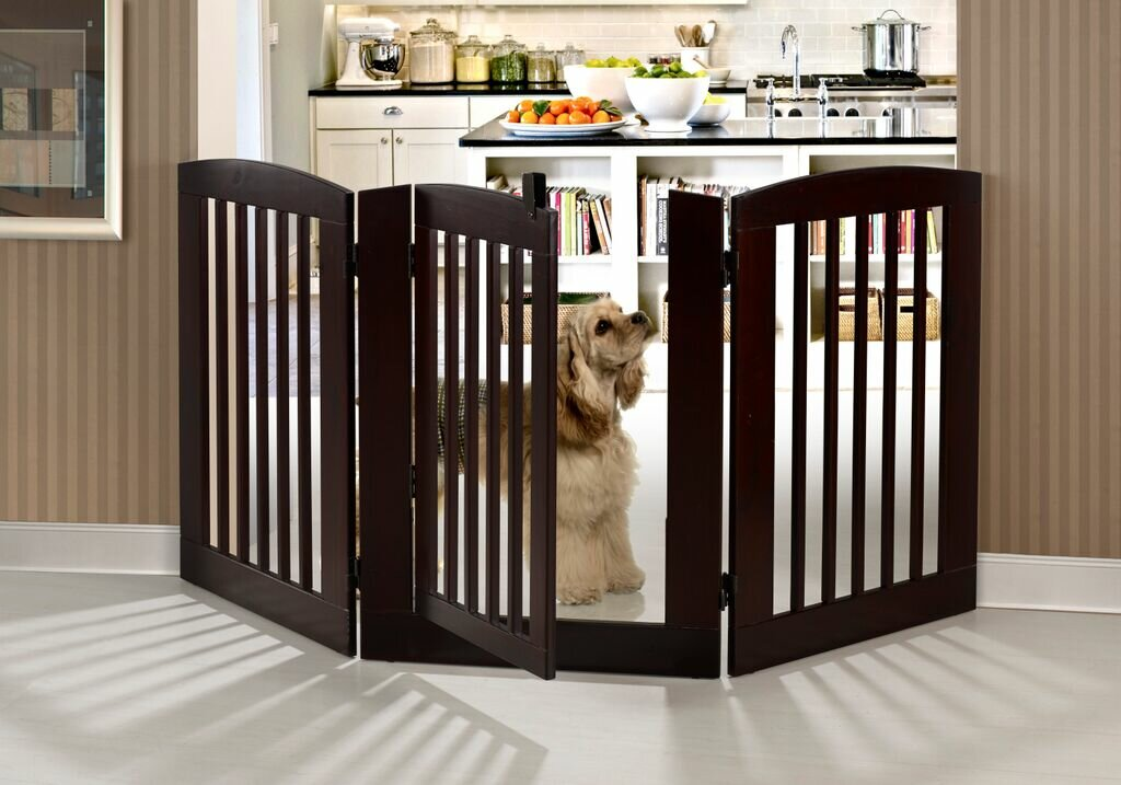 Camaflexi Ruffluv 3 Panel Expansion Dog Gate With Door