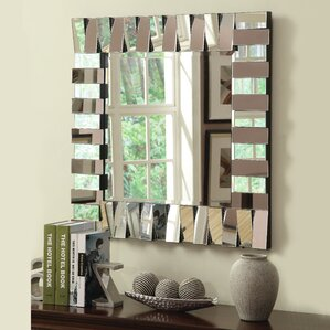 Wayfair Wall Mirrors mirror wall silver | wayfair