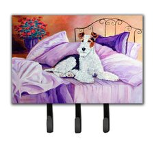 Fox Terrier Waiting on Mom Leash Holder and Key Hook by Caroline's Treasures
