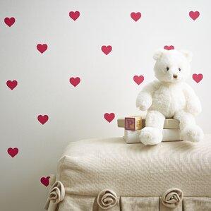 Mini Hearts Wall Decals (Set of 72)
