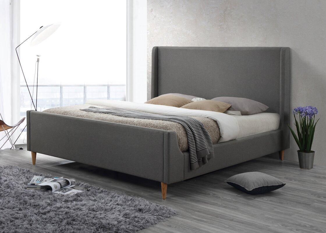 luxeo bedford king upholstered platform bed  reviews  wayfair - defaultname