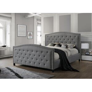 camden king upholstered panel bed - Headboard And Footboard Bed Frame