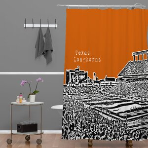Bird Ave Texas Longhorns Shower Curtain Deny Designs
