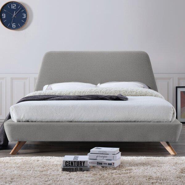 omax decor henry upholstered platform bed reviews wayfair - Upholstered Platform Bed Frame