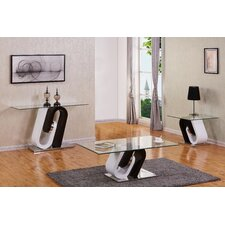 Brook Glass Top 3 Piece Coffee Table Set by Orren Ellis