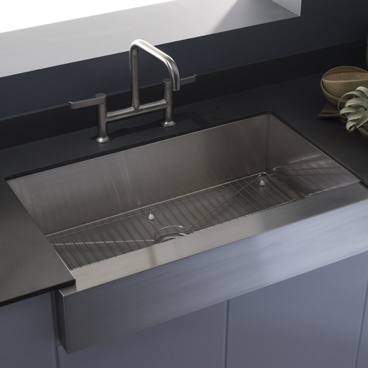 vault farmhouse single bowl kitchen sink - Bowl Kitchen Sink