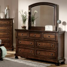 Cumberland 7 Drawer Dresser with Mirror by Woodhaven Hill