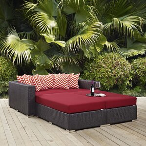 ryele 4 piece patio daybed with cushions