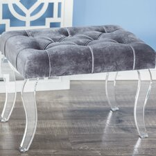 Fabric Foot Stool by Cole & Grey