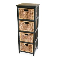 4 Drawer Open Side Cabinet by Heather Ann Creations