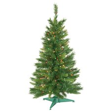 3.5' Imperial Pine Artificial Christmas Tree with Multi Lights