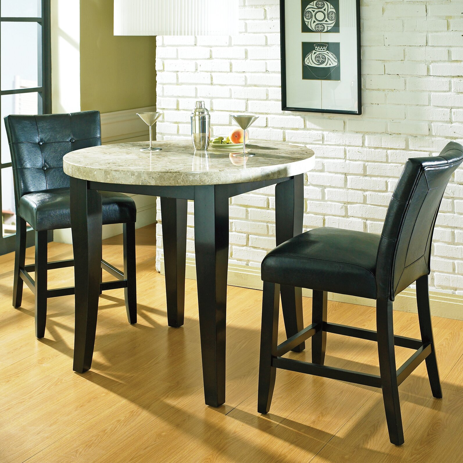 Kitchen pub table and chairs - Chloe Counter Height Pub Table Set