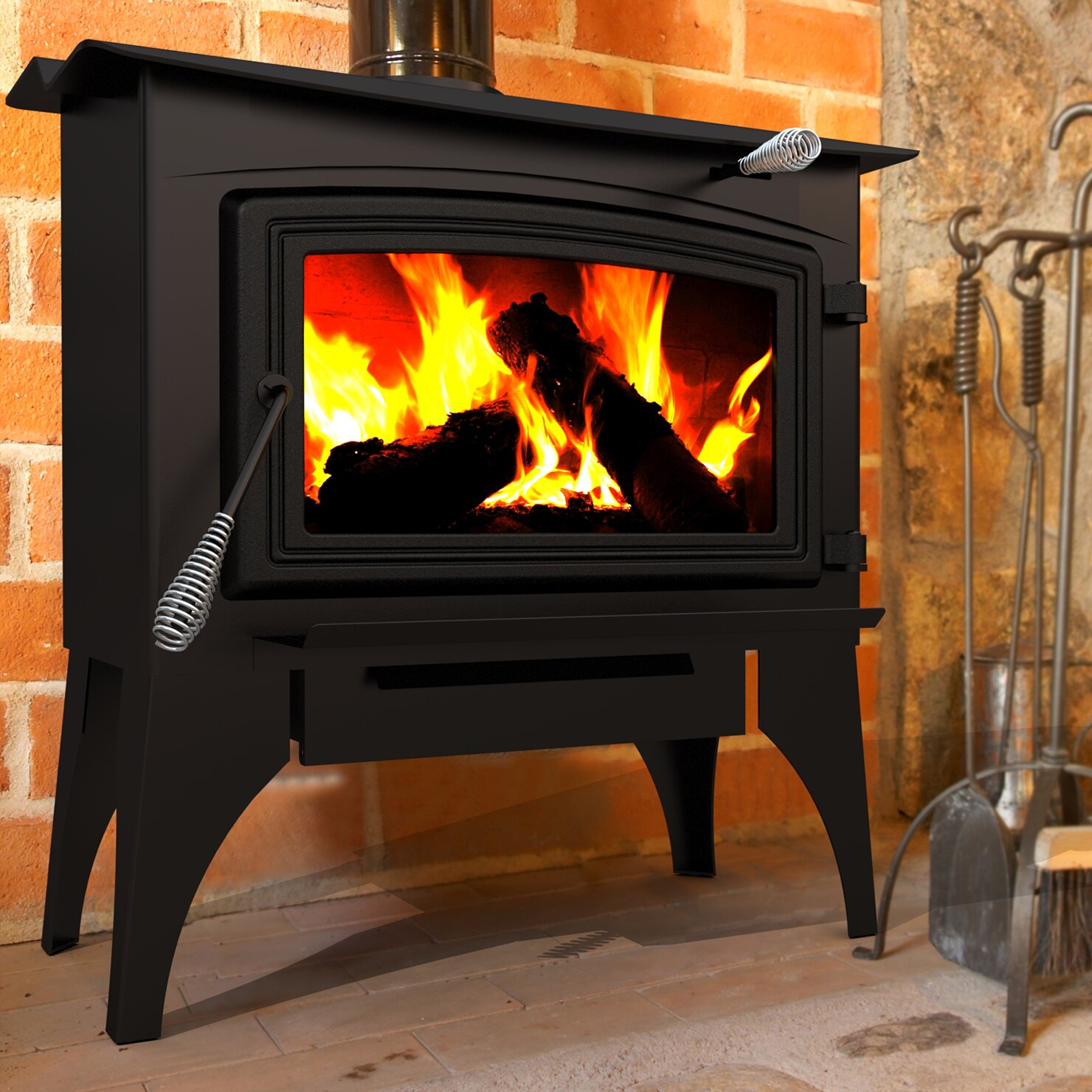 Direct Vent Wood Stove - Dyna-Glo Pleasant Hearth 1,800 Sq. Ft. Direct Vent Wood Stove