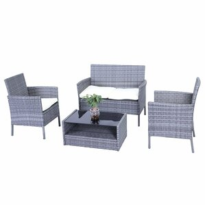 Kane Patio Furniture 4 Piece Sofa Seating Group With Cushions