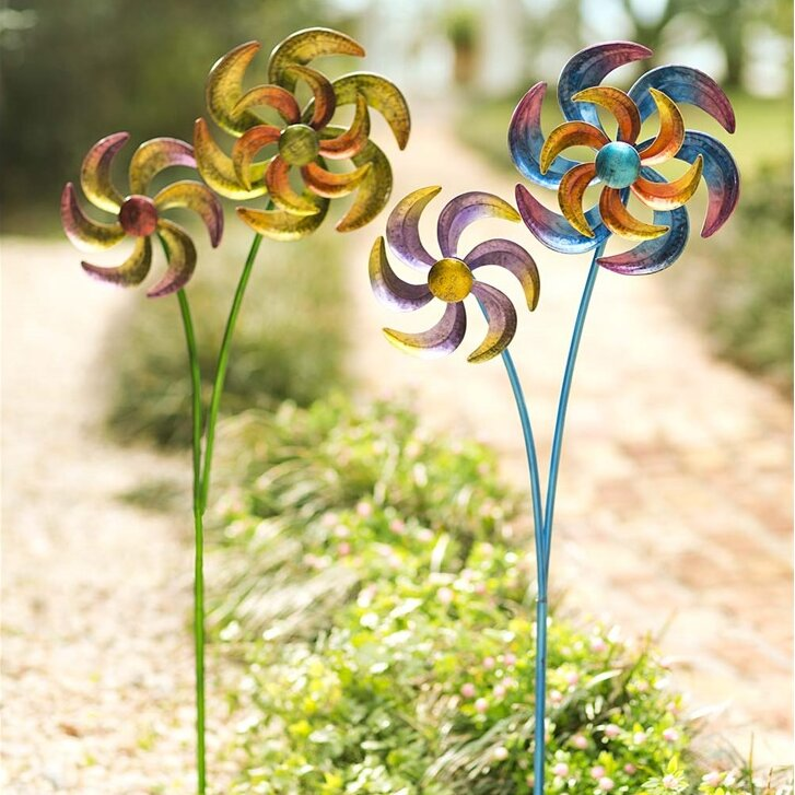 Colorful Metal Dual-Pinwheel Spinner
